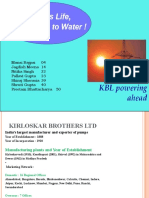 Sales and Distribution - Kirloskar Brothers Ltd