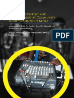Status of content and programming by community radio stations in Kenya
