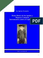 Iglesias Fernandez, Jose - Renta Basica de Las Iguales y Riqueza Comunal, Instrumentos Contra El Capitalismo
