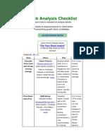 Stock Analysis Checklist