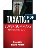 Taxation Super Summary