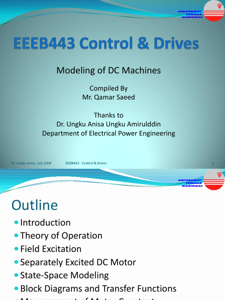 Lecture_4_Modeling of DC Machines   Electric Motor   Electrical ...