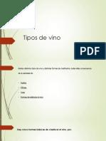 Tipos de Vinos