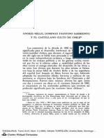 Andrés Bello, Domingo Faustino y El Castellano Culto en Chile