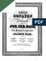 Sonate Pour Violoncelle J S Bach