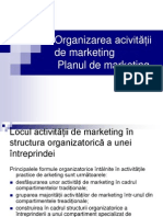 Organizarea Activitatii de Marketing Si Planul de Marketing