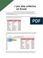 Buscar Por Dos Criterios en Excel