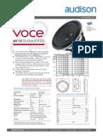 Av 12 Tech Sheet Tech Sheet