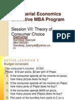 EMBA Sem I Managerial Economics Session7-Theory of Consumer Choice (1)