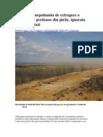 Tehnologie Nepoluanta de Extragere a Metalelor Pretioase Din Pirite
