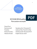 NYOGB 2014 Percussion Audition Snare Drum Excerpts