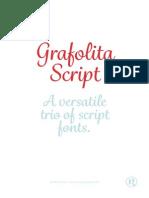 GRAFOLITA SCRIPT FONT SAMPLE