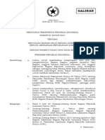 PP No .84 th 2014 ttg PENJUALAN BARANG MILIK NEGARA/DAERAH BERUPA KENDARAAN PERORANGAN DINAS.
