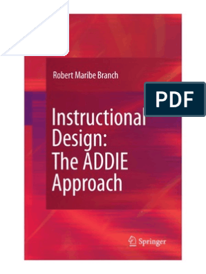Instructional Design The Addie Approach Book Instructional Design Learning