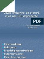 Cauze Endocrine de Statură Mică Non GH-Dependente