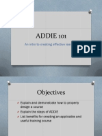 intro to addie - educ 6110
