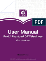 FoxitPhantomPDFBusiness70 Manual