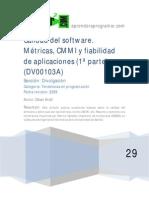 DV00103A Calidad Del Software Metricas Cmmi y Fiabilidad de Aplicaciones
