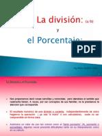 Divisiones y Porcentajes Presentacion Powerpoint