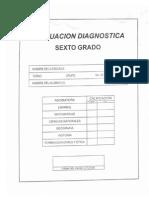 Examenes Diagnostico de Sexto 2012-2013