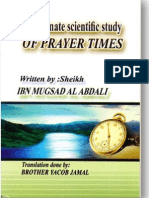 The Correct Prayer Times