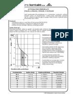 Automatski Osigurači B i C Karakteristike