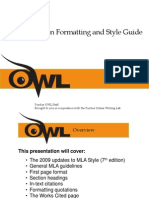 purdue owl mla formatting and style