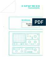 Hameg Hm1005 Oscilloscope French Um