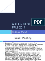 action research presentation- fall 2014
