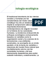 La Sociologia Ecologica