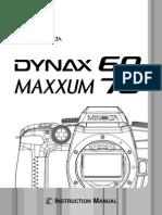 Dynax 60 Maxxum 70 E B