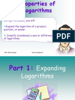 8-4 Properties of Logarithms Lecture