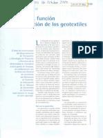 Definicion Funcion y Clasificacion de Los Geotextiles
