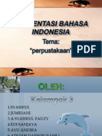 Presentasi Bahasa Indonesia (perpustakaan)
