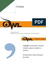 purdue owl conquering the comma