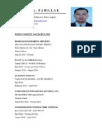 Carlos Fabillar Resume Safety Officer