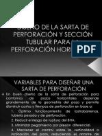 Diseño de La Sarta de Perforación y Sección