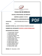 Informe de La Intervención Social