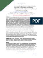 Diseño de Un Sistema de Indicadores Para Controlar La Calidad de Un Servicio Aplicando Lógica Difusa y La Metodología de Sistemas Suaves