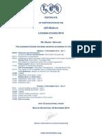 LES Course Certificate 2014   - Manish Abraham