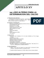 o Método Alterno de Calcio CAPITULO XV