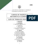 UNLP-Matemática Ingreso 2008