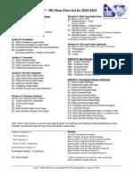 class list - area 7