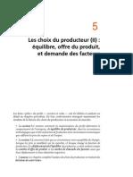 Chapitre 5 Le Choix Du Producteur Equilibre, Offre Du Produit Et Demande Des Facteurs