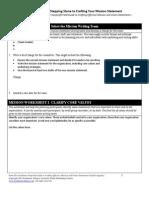 determining core values - wilder worksheets