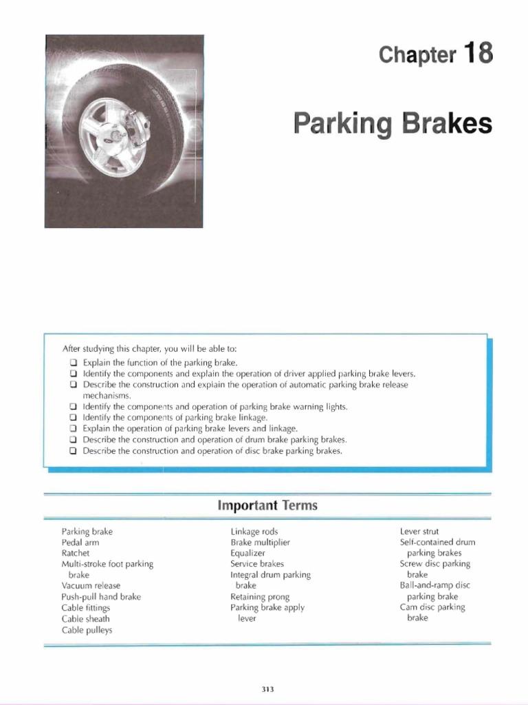 Parking brake stroke