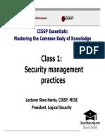 Domain1_Security Management Practices