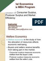 EMBA Sem I Managerial Economics Session5-Consumer Surplus, Producer Surplus and Market Efficiency.ppt