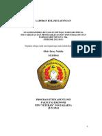 Analisis Kinerja Keuangan Ditinjau Dari Likuiditas, Profitabilitas, Dan Solvabilitas Di Pt Industri Jamu Dan Farmasi Sido Muncul Tbk (Periode 2012-2013)