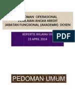Pedoman Operasional Angka Kredit Dosen-2014